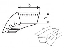 Variátorový řemen 37x10x800 Li optibelt Vario Power