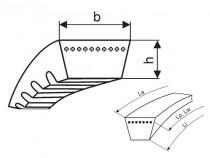 Variátorový řemen 37x10x850 Li optibelt Vario Power