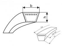 Variátorový řemen 45x20x2320 Li - HL 2400 Lw Rubena