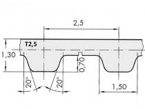 Řemen ozubený T2,5 277,5 6 optibelt Alpha Torque - N1