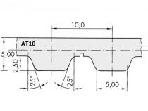 Řemen ozubený AT10 1000 25 optibelt Alpha Torque - N1