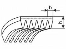 Řemen víceklínový PH 1096 (431-H) optibelt RB rukáv - N1