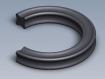 X-kroužek NBR 70 ShA 1,78x1,78 Dichtomatik - N1