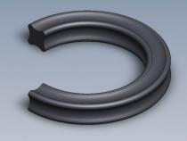 X-kroužek NBR 70 ShA 2,84x2,62 Dichtomatik - N1