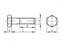 Šroub šestihranný částečný závit DIN 931 M22x70