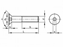 Šroub zápustný inbus DIN 7991 M5x10-8.8 pozink - N1