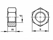 Matice levý závit DIN 934 M8 nerez A2