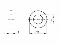 Podložka plochá DIN 125A M14 / 15,0 poniklovaná