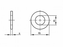 Podložka plochá DIN 125A M5 / 5,3 pozink - N1