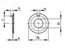 Podložka pojistná s nosem DIN 432 M10 / 10,5 pozink - N1