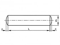 Kolík válcový DIN 7A m6 3x8 - N1