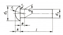 Nýt půlkulatá hlava DIN 660 2x8 - N1