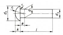 Nýt půlkulatá hlava DIN 660 2,5x10 - N1