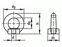 Matice závěsná DIN 582 M6 C15 CE - N1