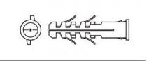Hmoždinka standardní s lemem nylonová UPA-L 8x40 - N1