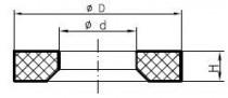 Těsnění PRR 19,6x24,3x1,5 NBR85 pro závit M22x1,5