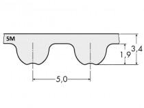 Řemen ozubený 755 5M Gates Powergrip HTD rukáv - N1