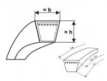 Klínový řemen 13x640 Li - A 670 Lw (A25) Gates Delta Classic - N1