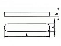 Pero těsné DIN 6885 A 2x2x10