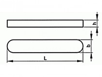 Pero těsné DIN 6885 A 2x2x22