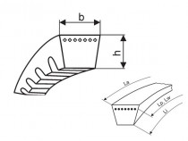 Klínový řemen SPZ 1162 Lw Gates Super-HC MN - N1