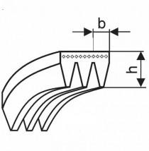 Řemen víceklínový 3 PH 735 (289-H) optibelt RB - N1