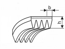 Řemen víceklínový 4 PH 1092 (430-H) optibelt RB