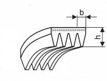 Řemen víceklínový 4 PJ 307 (121-J) nylonový kord ABAC Megadyne Poly-V