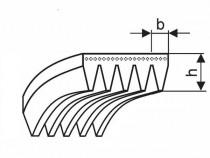 Řemen víceklínový 5 PH 735 (289-H) optibelt RB - N1