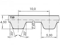Řemen ozubený T10 630 12 Gates Synchro Power - N1